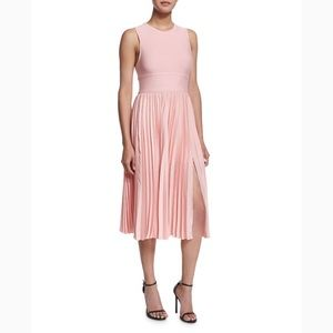 NWT Halston Heritage pleated pink dress